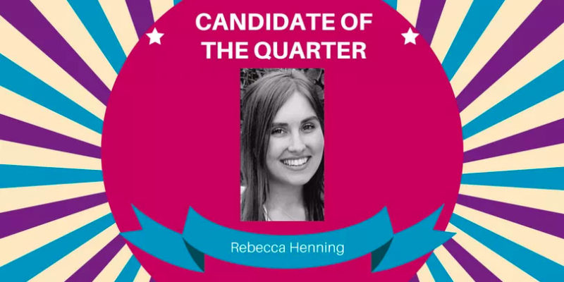 Candidate Of The Quarter AUG18