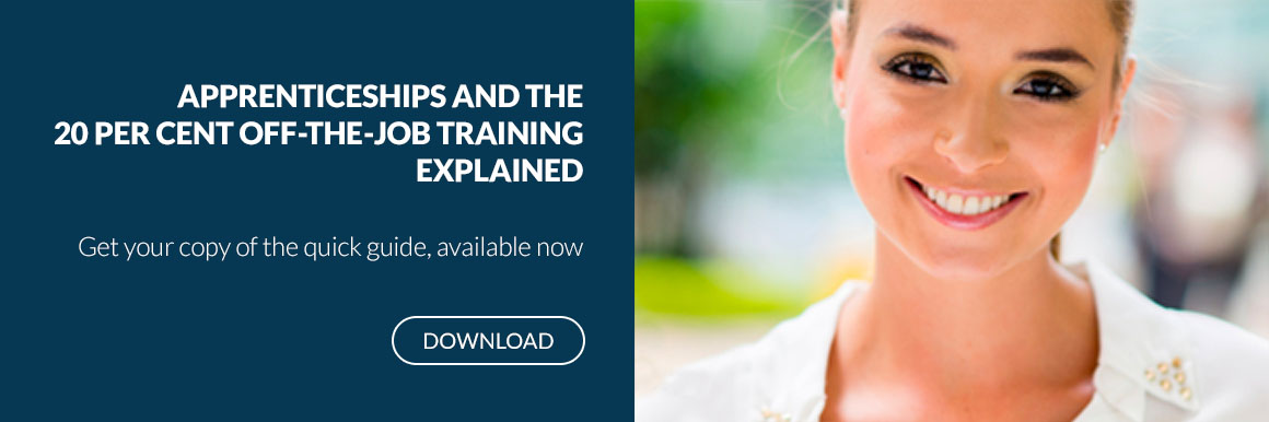 Apprenticeships and the 20pc on the job training