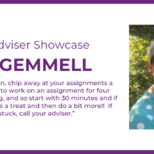 Adviser Showcase - Dee Gemmell