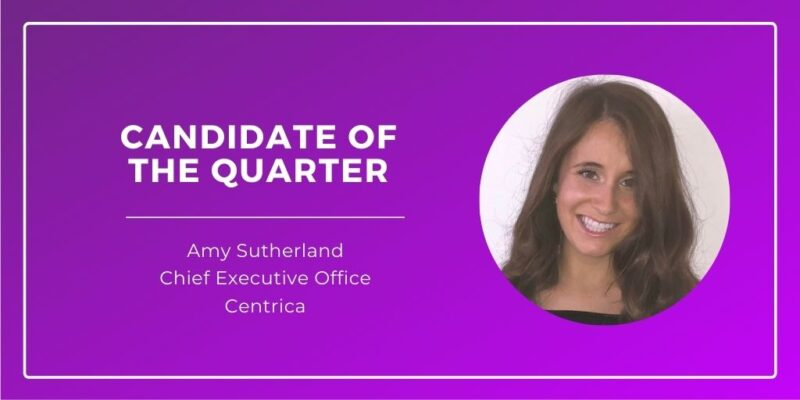 Amy Sutherland, Candidate of the Quarter